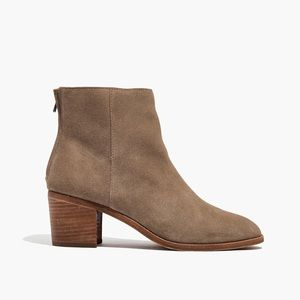 Madewell Pauline Ankle Boot in Suede Wet Pebble 8